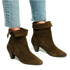 Free People Adella Heel Bootie Suede Ankle Boot 8